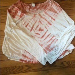 Free People tie dye long sleeve